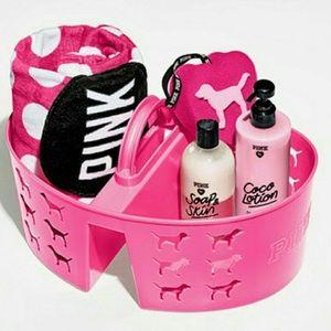 PINK Victoria Secret plastic caddy